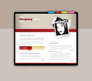 Website template. Royalty Free Stock Images