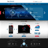 Website template for product presentation Stock Image