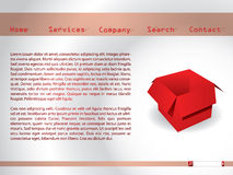 Website template with red box Royalty Free Stock Photos
