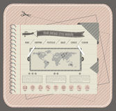 Website template in retro style. Royalty Free Stock Image