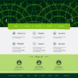 Website Template with Rings Header Design Stock Photo