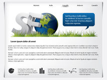 Website template SEO. Theme with blue dialog bubble Stock Photos