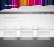 Website template with stripes. Royalty Free Stock Photos