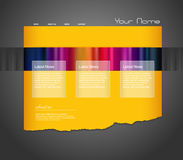Website template with stripes. Stock Image