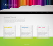 Website template with stripes. Royalty Free Stock Image