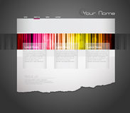 Website template with stripes. Royalty Free Stock Photo
