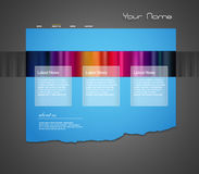 Website template with stripes. Stock Photos