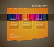 Website template with stripes. Stock Photography