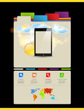 Website template, Touchscreen Mobile Royalty Free Stock Photo