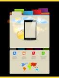 Website template, Touchscreen Mobile. Website art template, Touchscreen Mobile Royalty Free Stock Photo