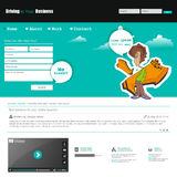 Website template with urban graffiti character. Vector Eps 10 Stock Photography