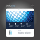Website Template Vector Royalty Free Stock Photos