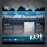 Website Template Vector Royalty Free Stock Photos