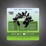 Website Template Vector Stock Image