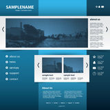 Website Template Vector Royalty Free Stock Photo