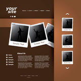 Website Template Vector Royalty Free Stock Images