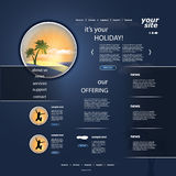 Website Template Vector Royalty Free Stock Image
