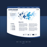 Website Template Vector Royalty Free Stock Photography
