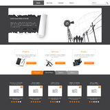 Website Template Vector Illustration. Eps 10 Stock Photos