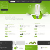 Website Template. Vector illustration. Stock Images