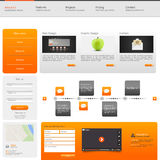 Website Template. Vector illustration. Stock Image