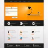 Website Template. Vector illustration. Stock Photos