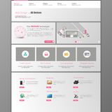Website Template. Vector illustration. Royalty Free Stock Photo