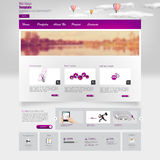 Website Template. Vector illustration. Stock Photo