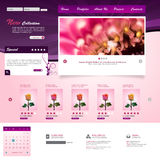 Website Template. Vector illustration. Royalty Free Stock Image