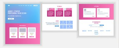 Website Template Vector. Page Business Project. Landing Web Page. Technical Online Support. Design Evolution System vector illustration