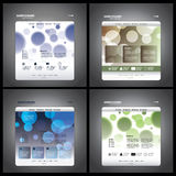 Website Template Vectors royalty free illustration