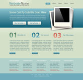 Website template vintage colors Royalty Free Stock Photography