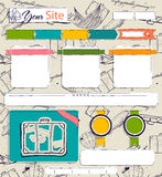 Website template with vintage elements. Royalty Free Stock Images