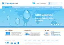 Website template: WATER DROPS Royalty Free Stock Photos
