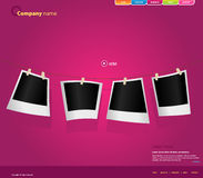 Website Template With Photos. Royalty Free Stock Image