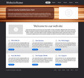 Website template with wood texture Stock Photos