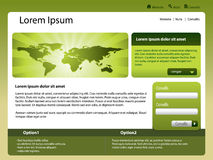 Website template world Royalty Free Stock Photo