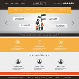Website Template for Your Business or Blog Royalty Free Stock Images