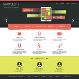 Website Template for Your Business Or Blog Royalty Free Stock Image