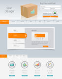 Website Template for Your Business. Professional Website Template for Your Business. Vector Eps, 10 Stock Image