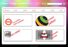 Website template2 Stock Photography