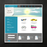 Website TemplateTourism Website Template with travelling concept. Vector EPS 10. Stock Image