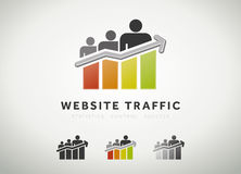 Website traffic icon. Colorful website traffic and search engine optimization icon Royalty Free Stock Photos