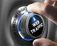 Website Traffic Stock Photo