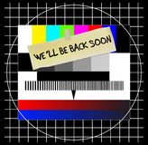 Website / TV error message Stock Photo