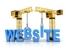 Website und Kran Lizenzfreies Stockfoto