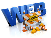 Website under construction. 3d illustration of website under construction concept Royalty Free Stock Photography