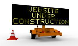 Website under construction Stock Photo