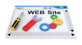 Website is under construction. Royalty Free Stock Image