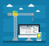 Website under construction background. Vector illustration graphic design Royalty Free Stock Image